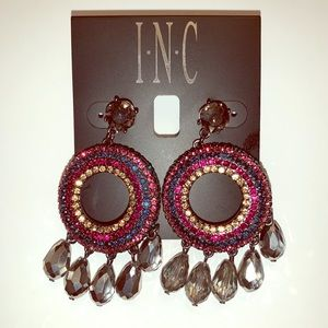 Rhinestone Statement Earrings/ Special Occasion